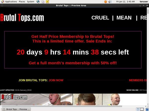 Brutaltops.com Renew Password