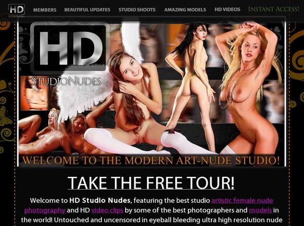 HD Studio Nudes Signup Form