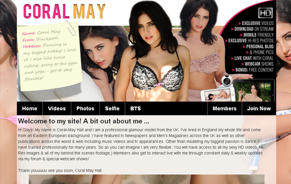 Officialcoralmay.com Paysite
