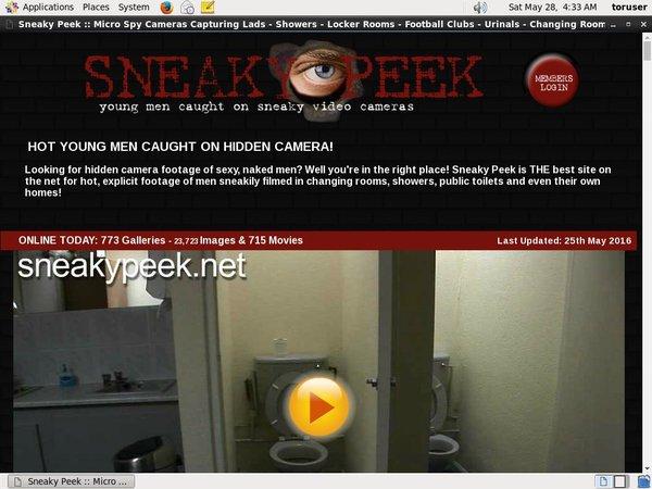Sneakypeek Registration Form