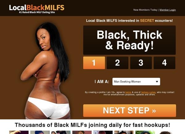 Localblackmilfs.com With European Credit Card