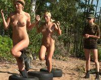 Lesbian Army female strapon