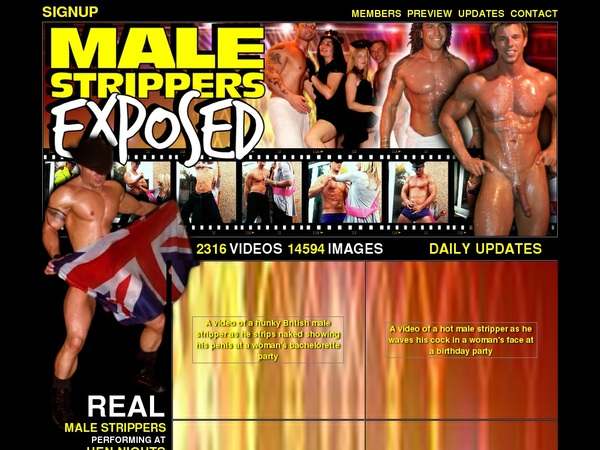 Malestrippersexposed.com Porn Account
