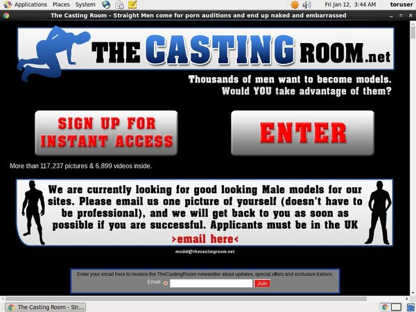The Casting Room Mobile Account