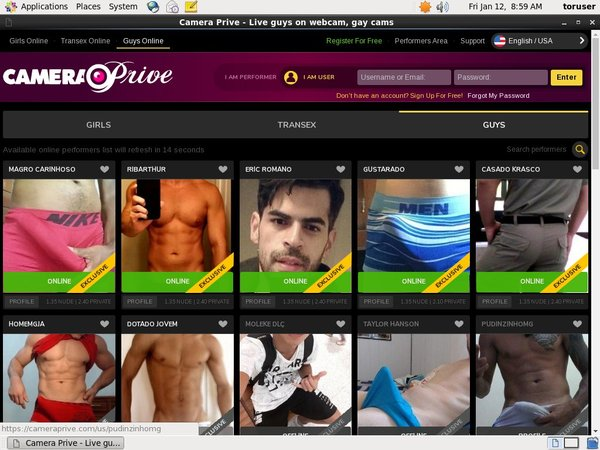 CameraPrive Gay Webcams Webcams