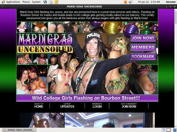 Free Mardi Gras Uncensored Accounts