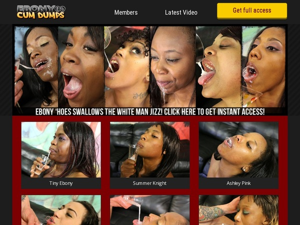 Ebony Cum Dumps Fresh Passwords