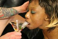 Ebony Cum Dumps cum swallowing